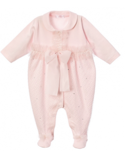 Pink Babygrow Lace & Bow
