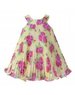 Baby Dress Yellow Plissee