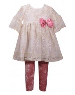 Festliches Legging Set Pink