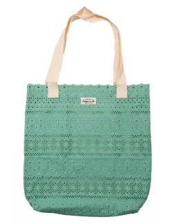Tote Bag Green Cotton