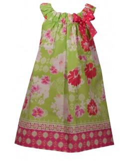 Girls Dress Flower Pattern