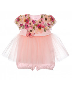Shorty with Butterfly and Tulle Skirt