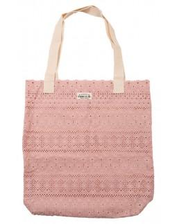 Tote Bag Pink Cotton