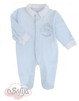 Blue Cotton Romper for Boys