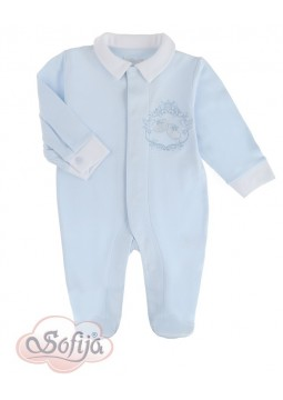 Blue Cotton Romper for Boys