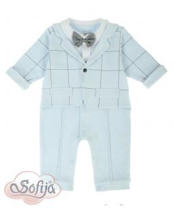 Blue Cotton Babygrow