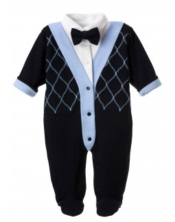 Babygrow Bow Tie Navy
