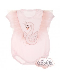 Babybody pink Swan