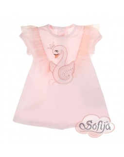 Baby Dress Pink Swan