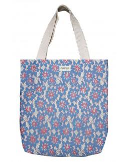 Shopper Blue Flower